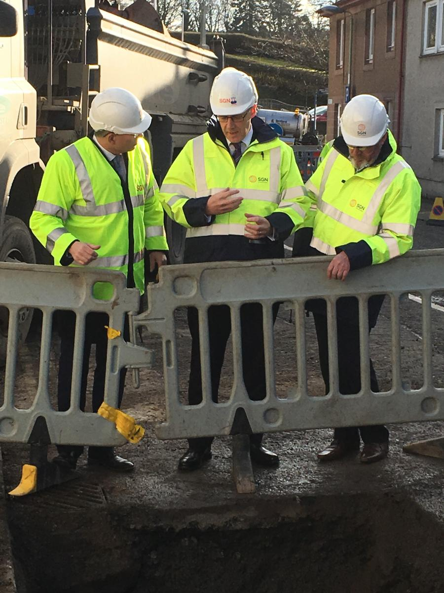 John Swinney visits Scone gas site