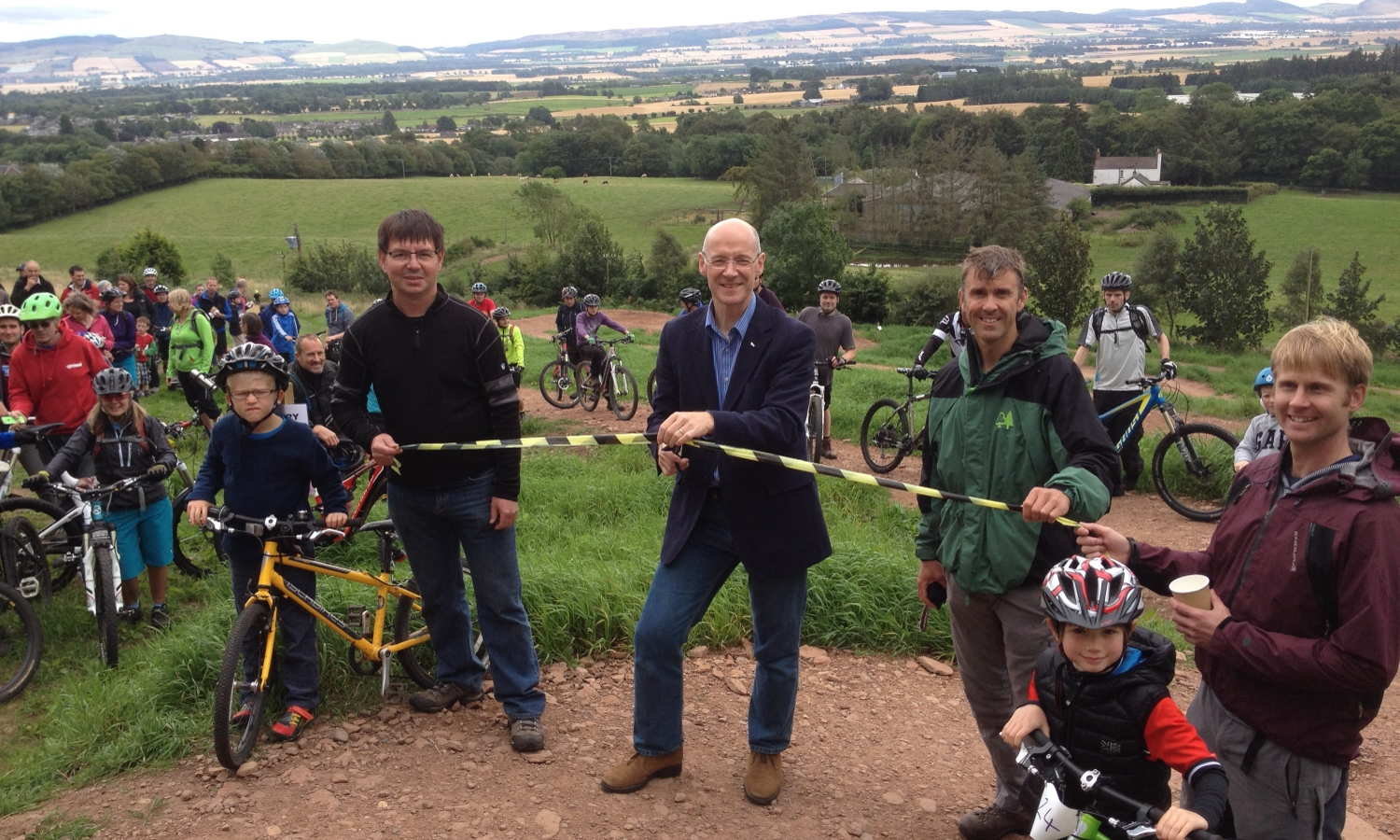 John Swinney at Alyth Bike Track