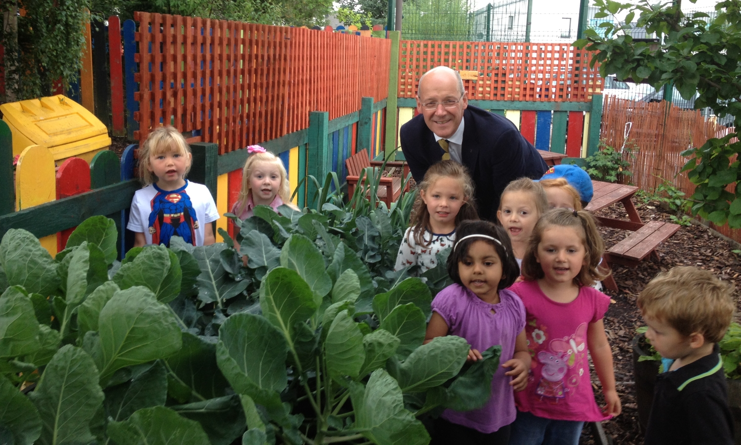 John Swinney at North Muirton Nursery
